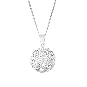 Sterling Silver Circular Butterfly Pendant - Product number 2932784