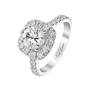 Neil Lane 14ct white gold 1.90ct round cut diamond halo ring - Product number 2934388