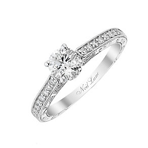 Neil Lane 14ct white gold 0.66ct solitaire diamond ring - Product number 2934817