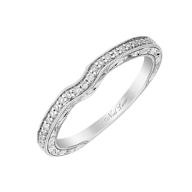 Neil Lane 14ct white gold 10pt diamond shaped milgrain band - Product number 2935163