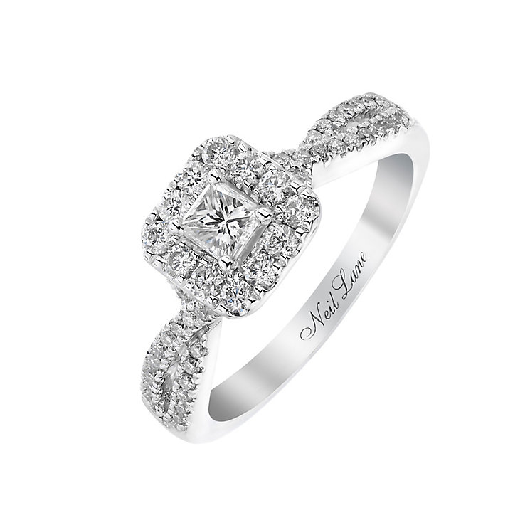 Neil Lane 14ct white gold 0.68ct princess cut diamond ring - Product number 2935309