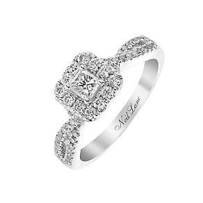 Neil Lane 14ct white gold 68pt princess cut diamond ring - Product number 2935309