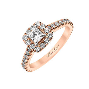 Neil Lane 14ct rose gold 80pt princess cut diamond ring - Product number 2935619