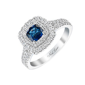 Neil Lane 14ct white gold 63pt sapphire & diamond ring - Product number 2936283