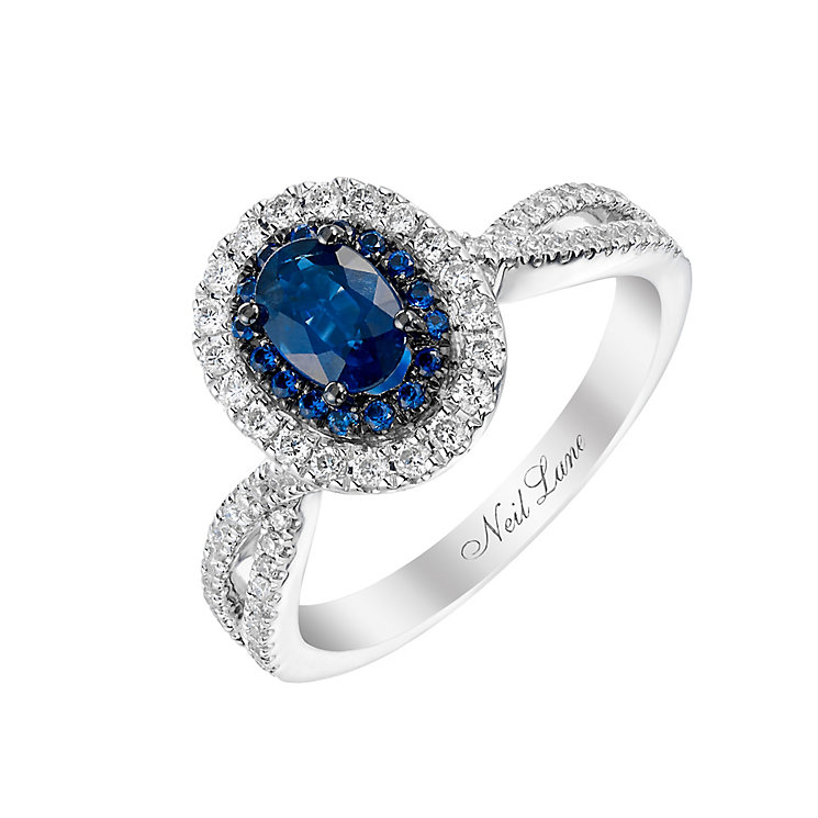 Neil Lane 14ct white gold 0.35ct sapphire and diamond ring - Product number 2936437
