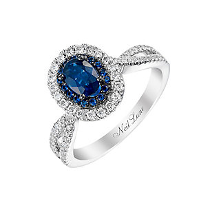 Neil Lane 14ct white gold 35pt sapphire and diamond ring - Product number 2936437