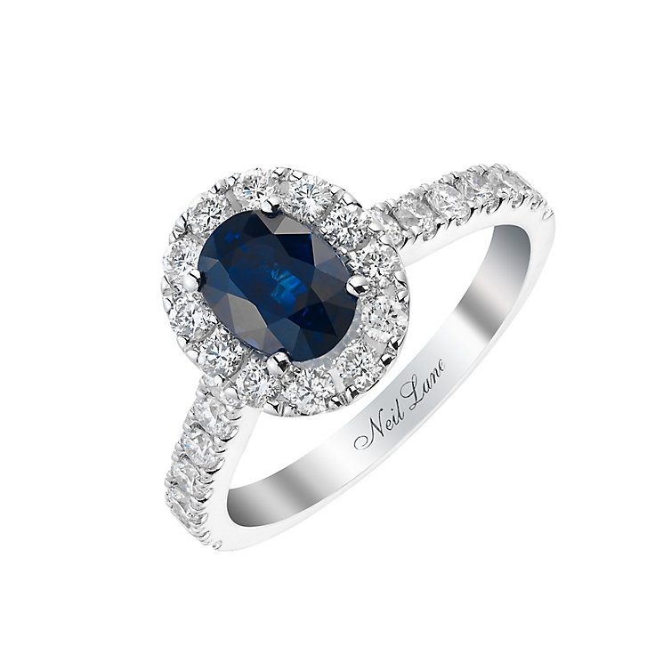 Neil Lane 14ct white gold 0.83ct sapphire and diamond ring - Product number 2936747