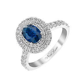 Neil Lane 14ct white gold 69pt sapphire and diamond ring - Product number 2937026