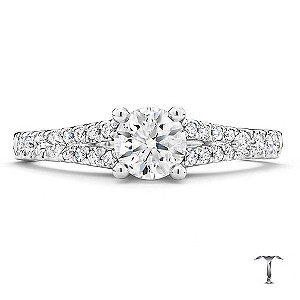 Tolkowsky 18ct White Gold 75pt Diamond Solitaire Ring