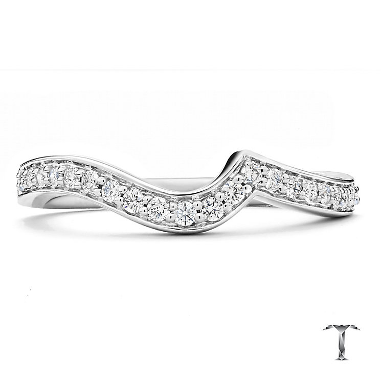 Tolkowsky 18ct White Gold 17pt Diamond Shaped Band - Product number 2938197