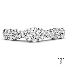 Tolkowsky 18ct white gold 0.75ct round cut diamond ring - Product number 2938340
