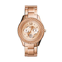 Fossil ladies' rose gold-tone bracelet watch - Product number 2939606
