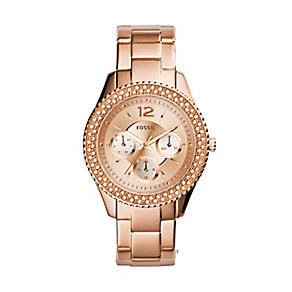 Fossil ladies' rose gold-plated bracelet watch - Product number 2939606