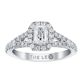 Leo Diamond 18ct white gold 1ct I SI2 diamond cluster ring - Product number 2940965