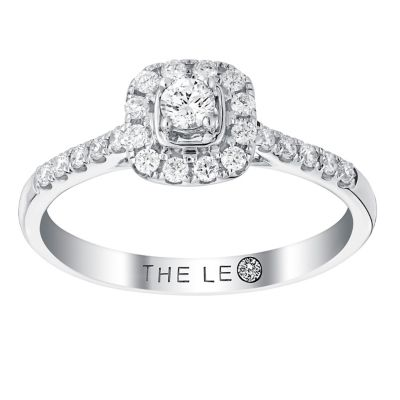 Leo Diamond 18ct white gold 033ct diamond ring Ernest Jones
