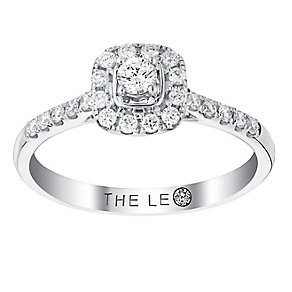Leo Diamond 18ct white gold 33pt cushion cut diamond ring - Product number 2941104