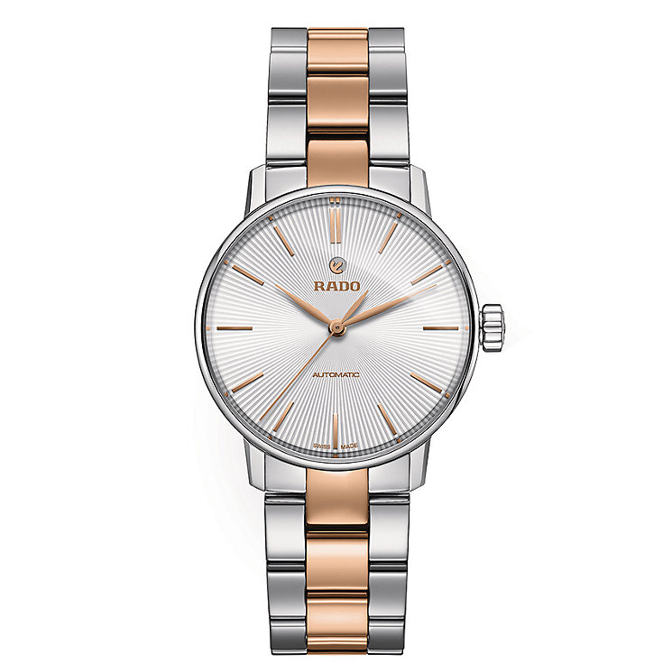 Rado ladies' stainless steel rose gold-plated bracelet watch - Product number 2944219