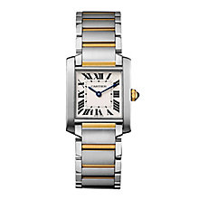 Cartier Tank Francaise ladies' two colour bracelet watch - Product number 2944790