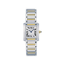 Cartier Tank Francaise ladies' two colour bracelet watch - Product number 2944804