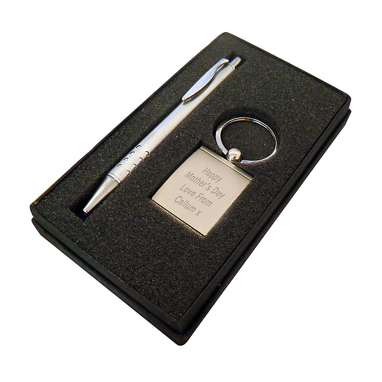 Engraved Silver Pen and Photo Keyring - Product number 2948842