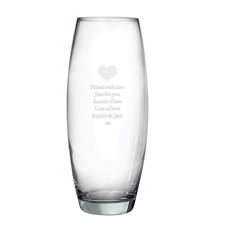 Engraved Heart Bullet Vase - Product number 2948877