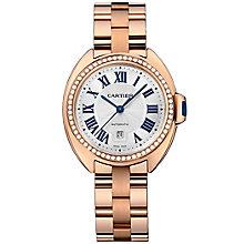Cartier Clé ladies' 18ct rose gold bracelet watch - Product number 2948885