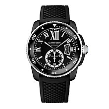 Cartier Calibre de Cartier Diver men's black strap watch - Product number 2949083