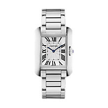 Cartier Tank ladies' stainless steel bracelet watch - Product number 2949121