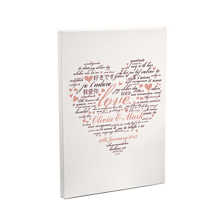 Personalised I Love You Canvas - Product number 2949601