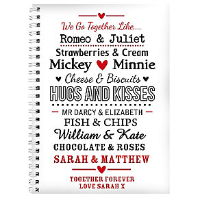 Personalised Couples A5 Notebook - Product number 2949628