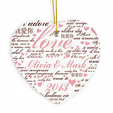 Personalised Love Ceramic Heart Decoration - Product number 2949725