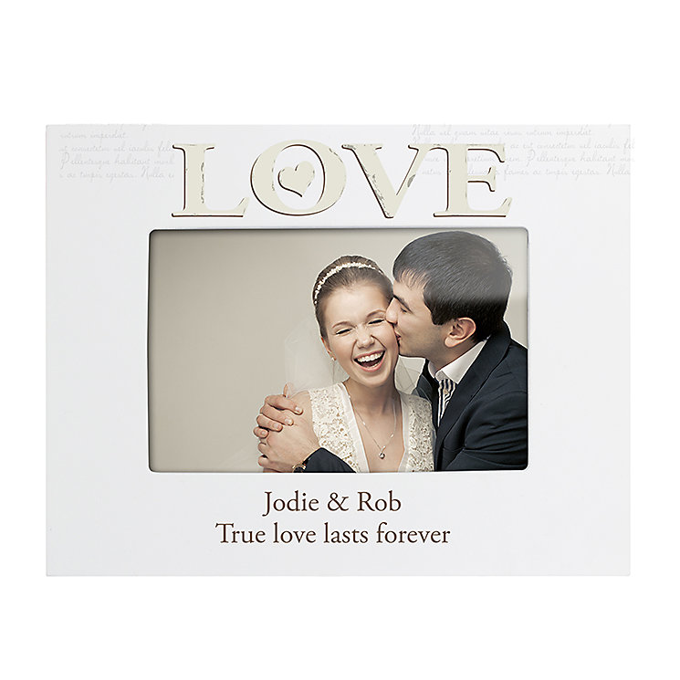 Engraved Love White 6x4 Frame - Product number 2949954