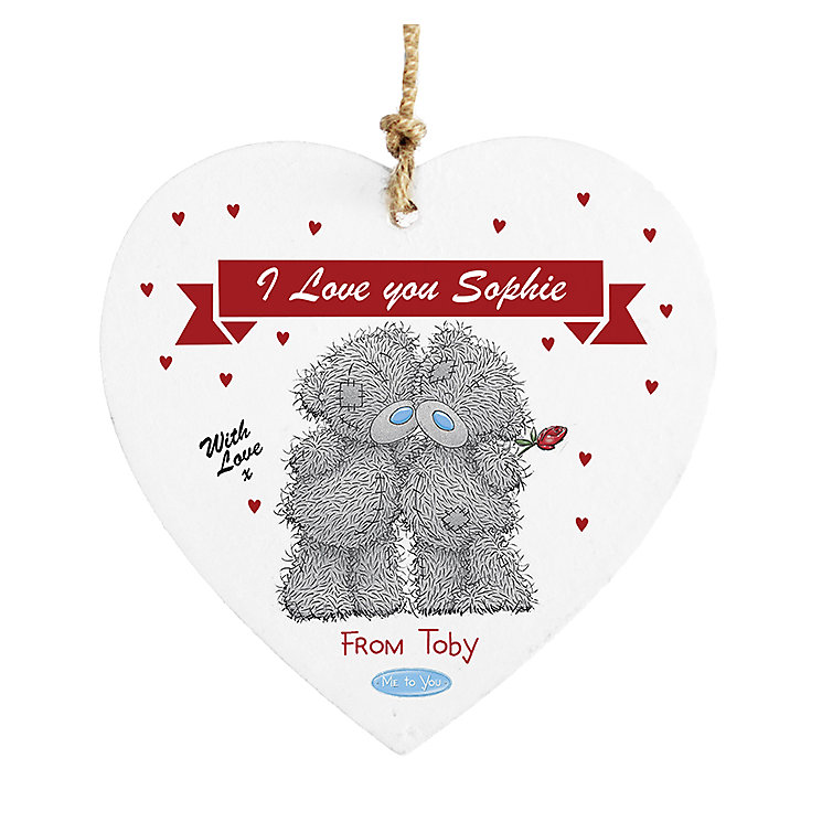 Personalised Me to You Couple Wooden Heart Decoration - Product number 2950022