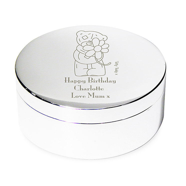 Engraved Me to You Flower Round Trinket Box - Product number 2950030