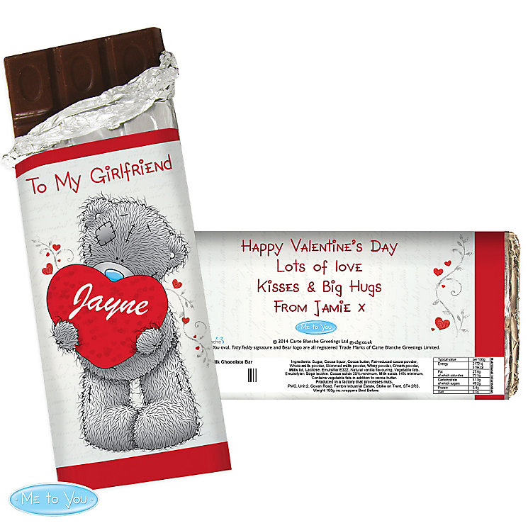 Personalised Me to You Big Heart Chocolate Bar - Product number 2950111