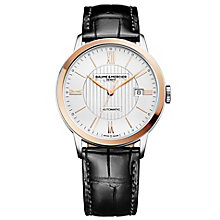 Baume & Mercier Classima men's rectangle white strap watch - Product number 2951320