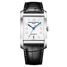 Baume & Mercier Hampton men's black leather strap watch - Product number 2951363