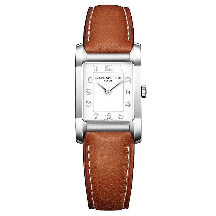 Baume & Mercier Hampton ladies' brown leather strap watch - Product number 2951398