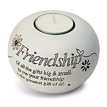 Said With Sentiment Friendship Tea Light Candle Holder - Product number 2951436