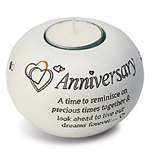 Said With Sentiment Anniversary Tea Light Candle Holder - Product number 2951444