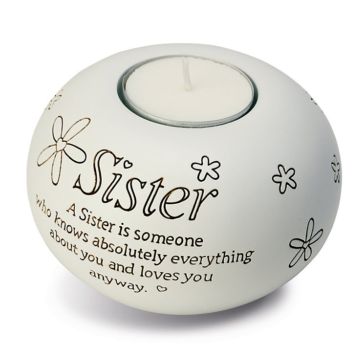 Said With Sentiment Sister Tea Light Candle Holder - Product number 2951452