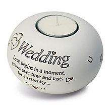 Said With Sentiment Wedding Tea Light Candle Holder - Product number 2951460