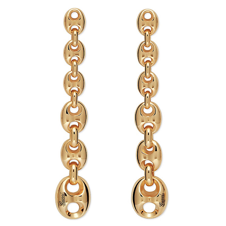 Gucci Marina Chain yellow gold drop earrings - Product number 2952262