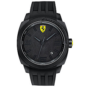 Scuderia Ferrari men's ion-plated black rubber strap watch - Product number 2952289
