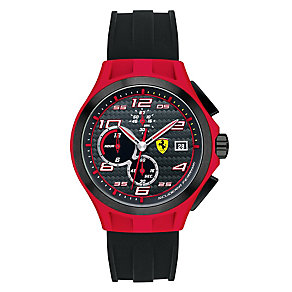 Ferrari men's red ion-plated strap black rubber watch - Product number 2952300