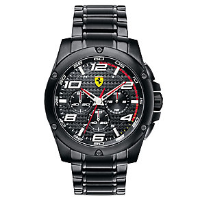 Ferrari men's black ion-plated bracelet watch - Product number 2952386