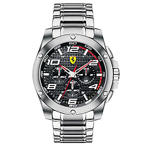 Ferrari men's stainless steel black dial bracelet watch - Product number 2952394