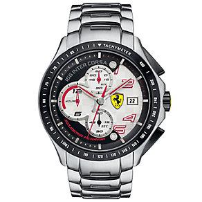 Ferrari men's stainless steel white dial bracelet watch - Product number 2952467