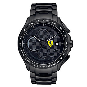 Ferrari men's black ion-plated bracelet watch - Product number 2952483