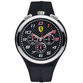 Ferrari men's stainless steel black rubber strap watch - Product number 2952556